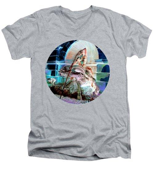 Neptune Nymph 3 Men's V-Neck T-Shirt by Robert G Kernodle