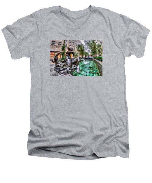 Nereid Men's V-Neck T-Shirt by Rafael Quirindongo