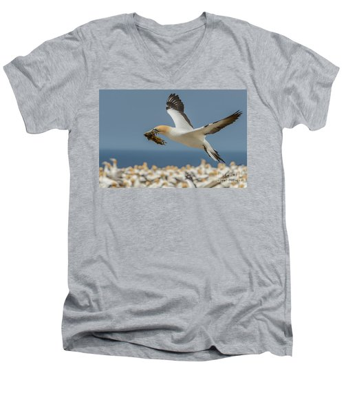 Men's V-Neck T-Shirt featuring the photograph Nest Building by Werner Padarin