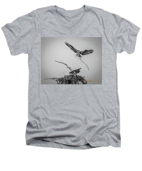 Nest Building 2m Men's V-Neck T-Shirt