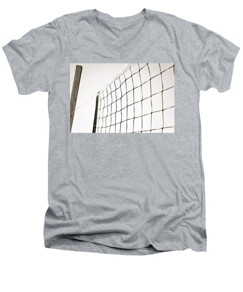 Men's V-Neck T-Shirt featuring the photograph Netted by Wade Brooks