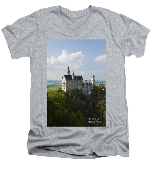 Neuschwanstein Castle Men's V-Neck T-Shirt
