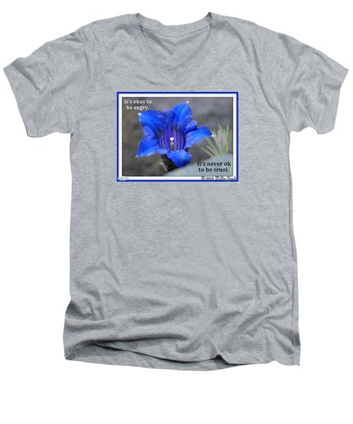 Never Be Cruel Men's V-Neck T-Shirt by Holley Jacobs
