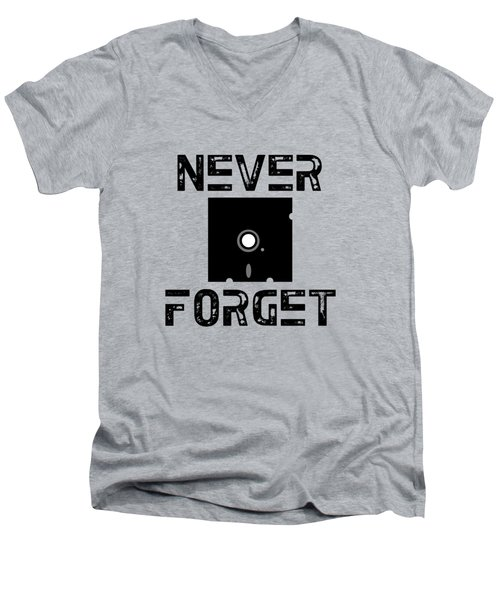 Never Forget Men's V-Neck T-Shirt by Mariel Constantino
