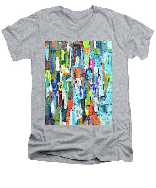 Never Give Up  Men's V-Neck T-Shirt