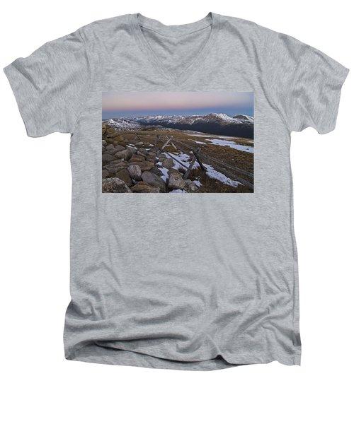 Never Summer Range Men's V-Neck T-Shirt