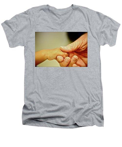 New And Old Men's V-Neck T-Shirt