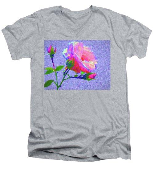New Dawn Painterly Men's V-Neck T-Shirt by Susan Lafleur