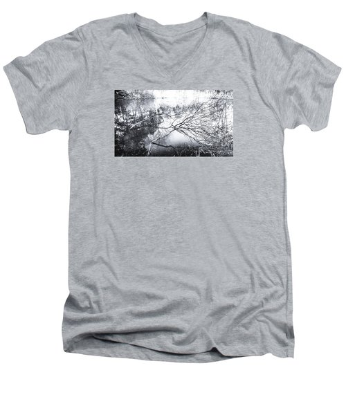 Men's V-Neck T-Shirt featuring the photograph New Day by Hayato Matsumoto