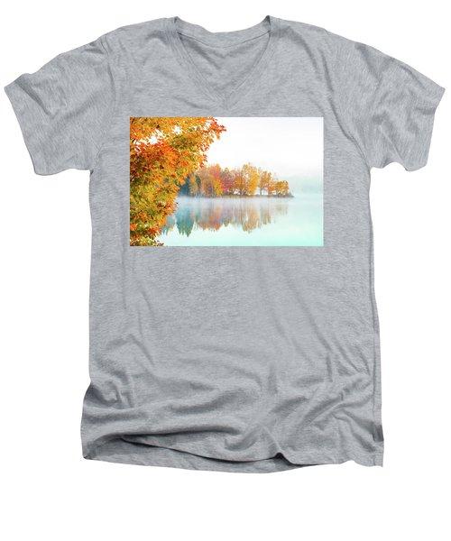 New England Fall Colors Of Maine Men's V-Neck T-Shirt