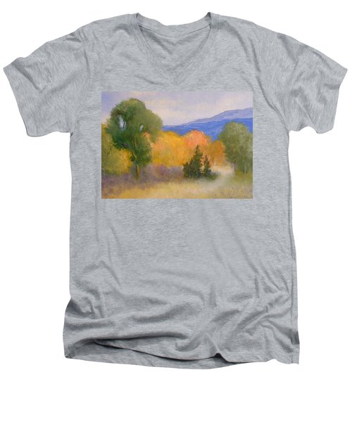 New England Fall Men's V-Neck T-Shirt