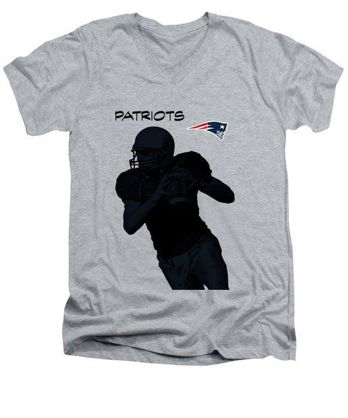 New England Patriots Football Men's V-Neck T-Shirt