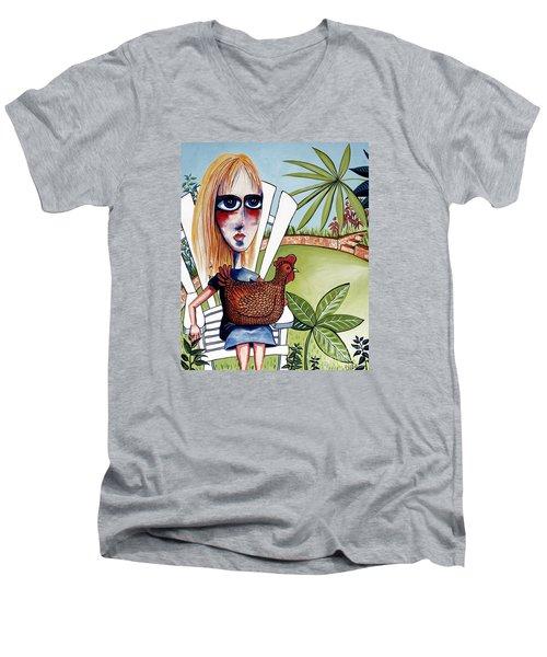 New Friends Men's V-Neck T-Shirt by Leanne Wilkes