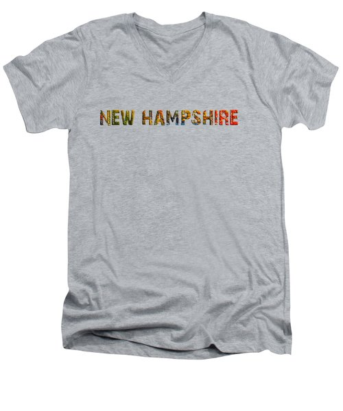 New Hampshire Is The Name Men's V-Neck T-Shirt by Mim White