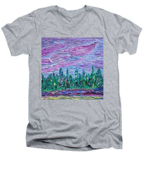 New Jersey Colors Men's V-Neck T-Shirt by Vadim Levin