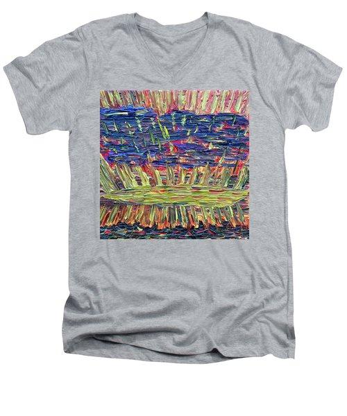 New Jersey Sunset Men's V-Neck T-Shirt