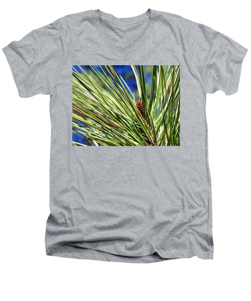 Men's V-Neck T-Shirt featuring the photograph New Life by Betty Northcutt