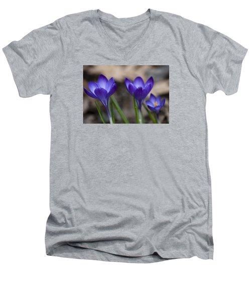 New Life Men's V-Neck T-Shirt by Dan Hefle