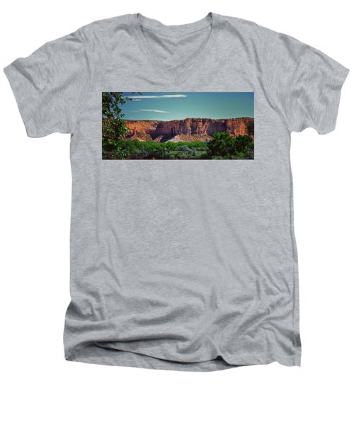 New Mexico Mountains 004 Men's V-Neck T-Shirt
