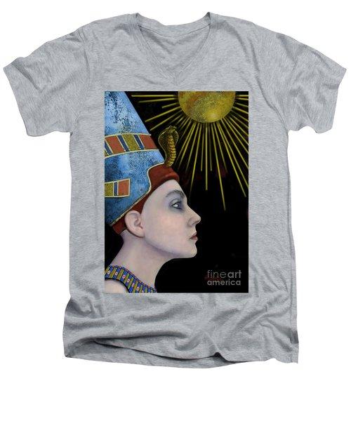 New Nefertiti Men's V-Neck T-Shirt by Carol Jacobs