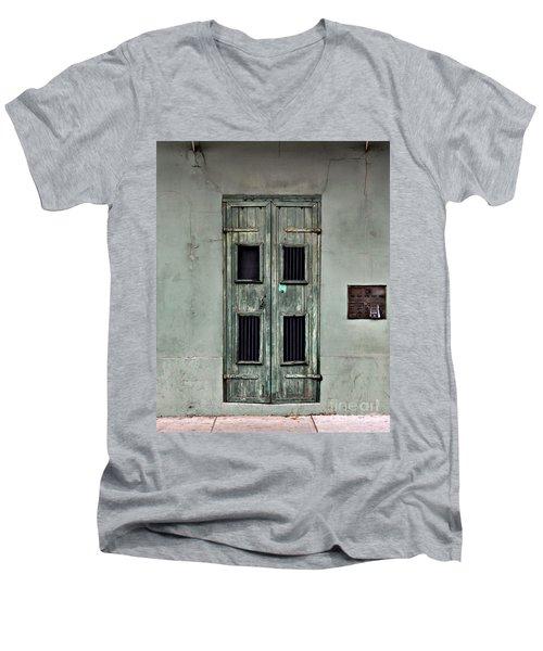 New Orleans Green Doors Men's V-Neck T-Shirt