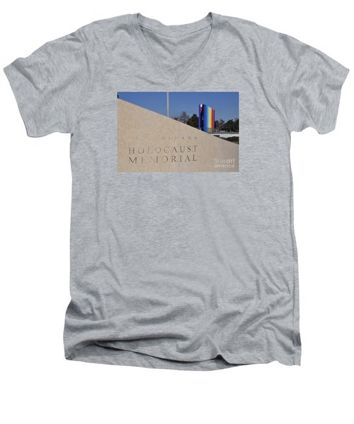 New Orleans Holocaust Memorial Men's V-Neck T-Shirt