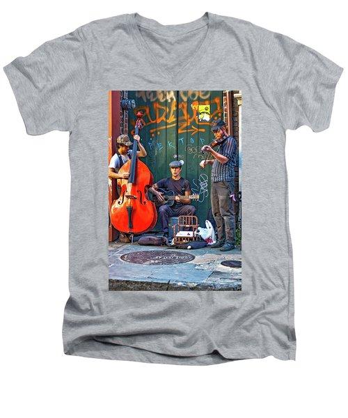 New Orleans Street Musicians Men's V-Neck T-Shirt