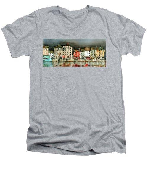 New Ross Quays Panorama Men's V-Neck T-Shirt