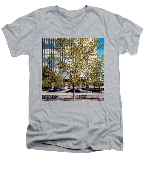 Trees On Fed Plaza Men's V-Neck T-Shirt