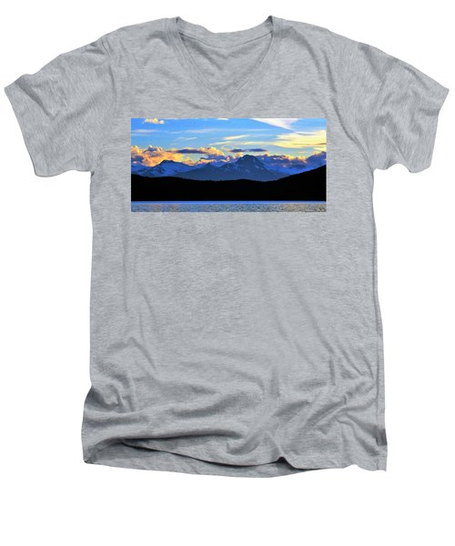 New World Men's V-Neck T-Shirt by Martin Cline