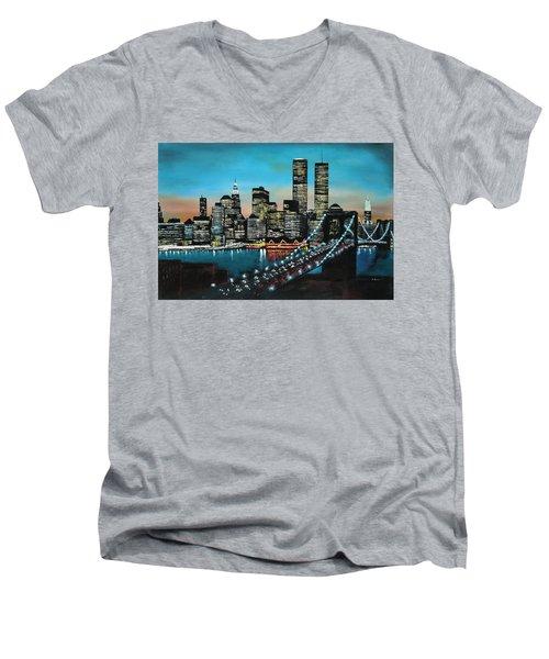 New York 910 Men's V-Neck T-Shirt