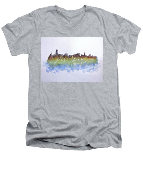 New York After Time Men's V-Neck T-Shirt