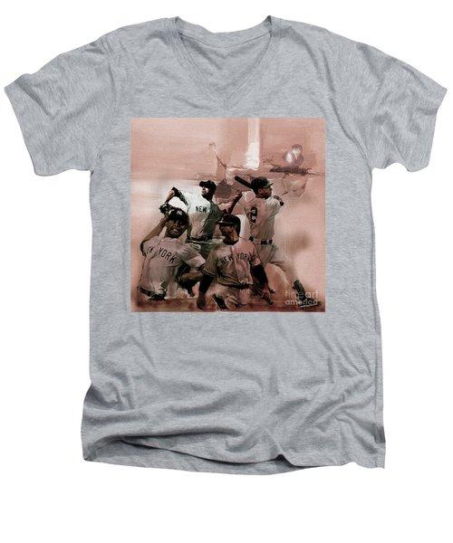 New York Baseball  Men's V-Neck T-Shirt by Gull G
