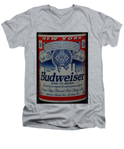 New York Bud Men's V-Neck T-Shirt by Rob Hans