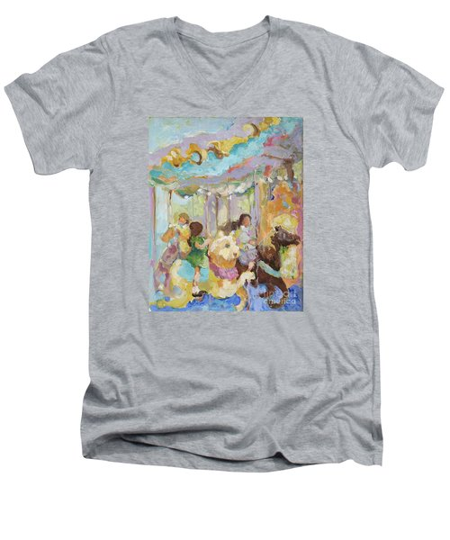 New York Carousel Men's V-Neck T-Shirt