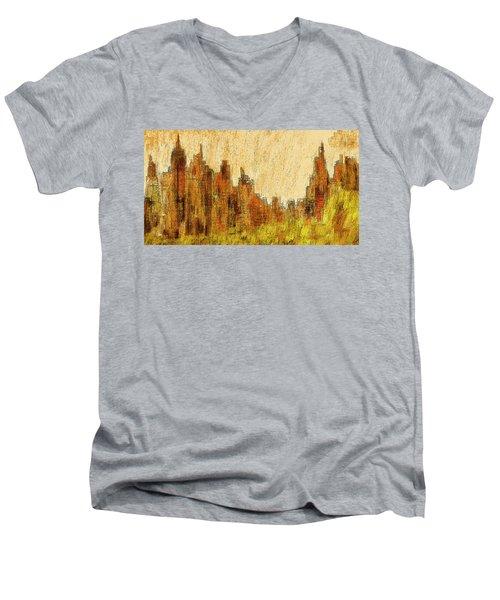 New York City In The Fall Men's V-Neck T-Shirt
