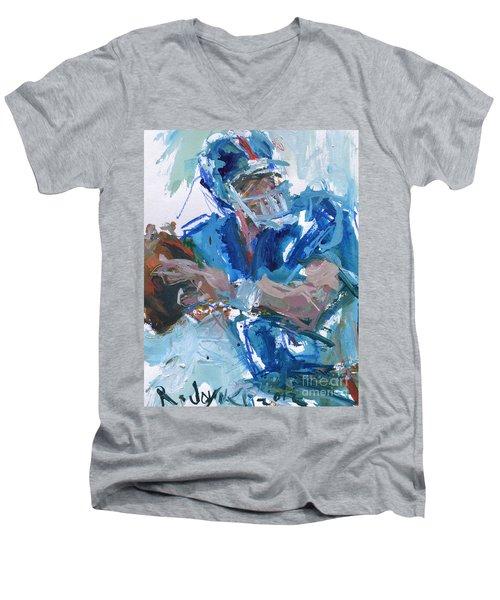 New York Giants Artwork Men's V-Neck T-Shirt