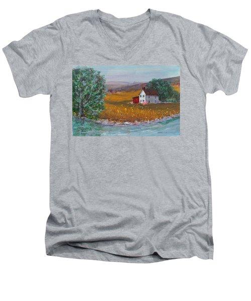 New York Lilacs Men's V-Neck T-Shirt