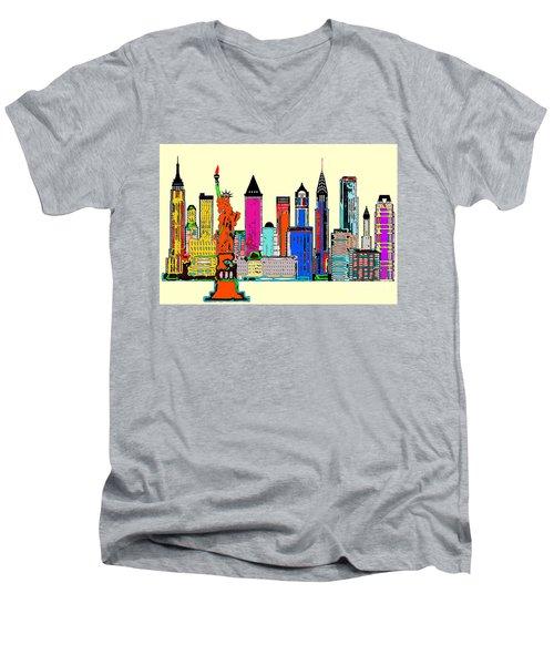 New York - The Big City Men's V-Neck T-Shirt