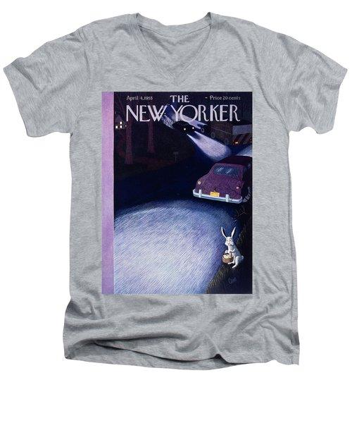 New Yorker April 4 1953 Men's V-Neck T-Shirt