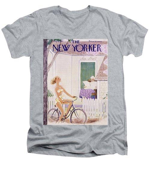 New Yorker August 6 1955 Men's V-Neck T-Shirt