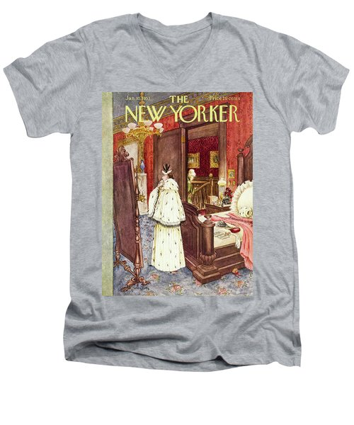 New Yorker January 10 1953 Men's V-Neck T-Shirt