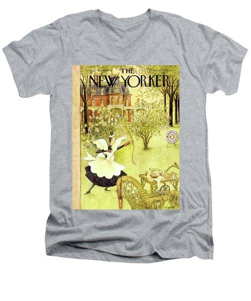 New Yorker July 15 1950 Men's V-Neck T-Shirt