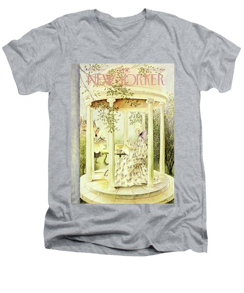 New Yorker July 16 1949 Men's V-Neck T-Shirt
