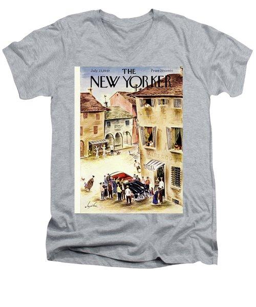 New Yorker July 23 1949 Men's V-Neck T-Shirt