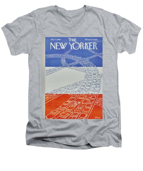 New Yorker July 4 1959 Men's V-Neck T-Shirt
