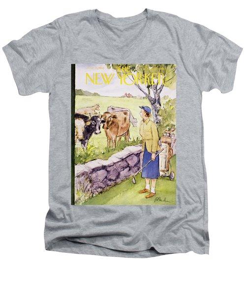 New Yorker June 11 1955 Men's V-Neck T-Shirt