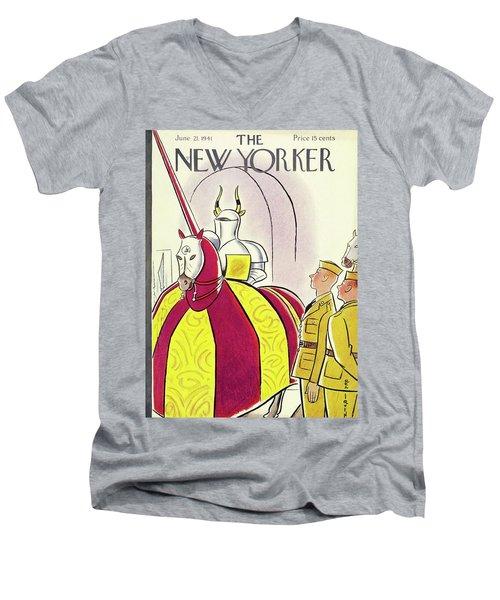 New Yorker June 21 1941 Men's V-Neck T-Shirt