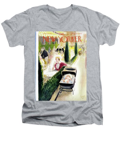 New Yorker June 26 1937 Men's V-Neck T-Shirt