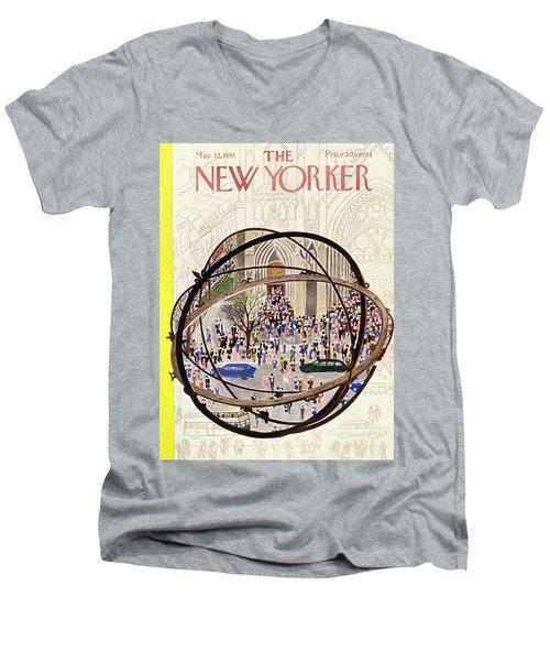 New Yorker May 12 1951 Men's V-Neck T-Shirt